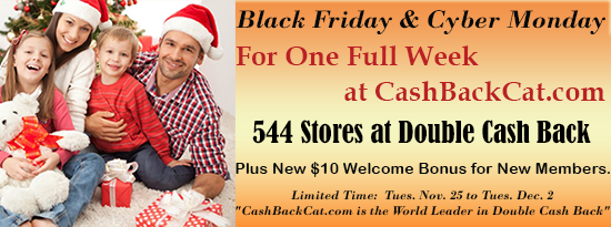 Part I, 12 Stores with 20% Cash Back and More, Plus Double Cash back at over 544 Stores of Your Favorites!