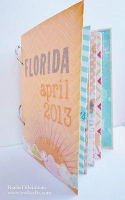 RWKrafts: Florida Mini Album using DCWV 'Sweet Tangerine' paper