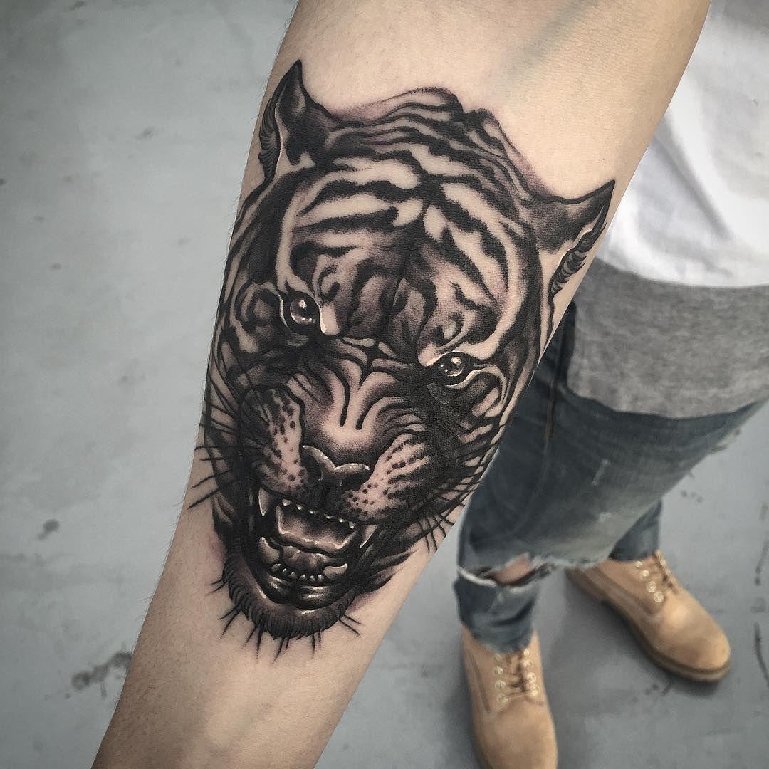 Tigger tattoo designs - Tiger Face Tattoo
