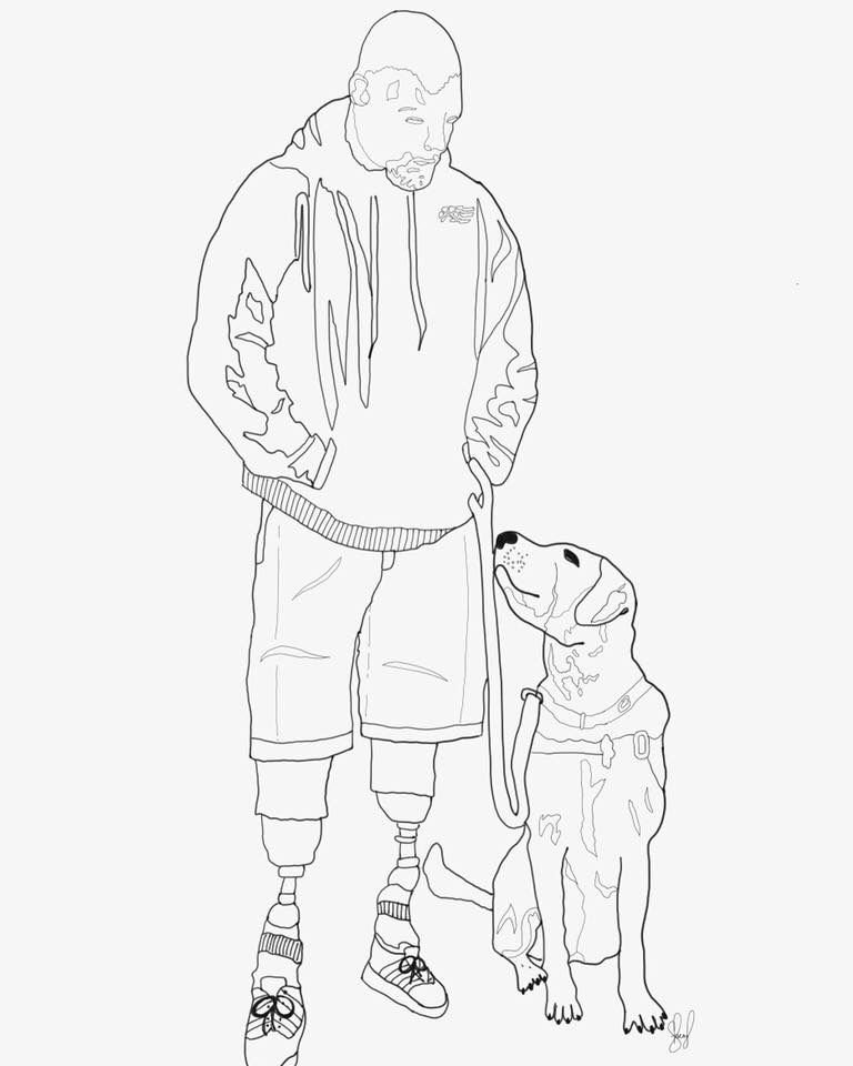 Custom Service Dog Drawing Email Designsbystaceylynn At Gmailcom For