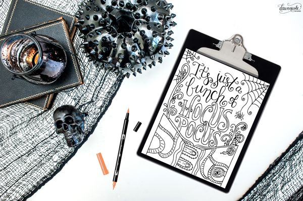 Hocus Pocus Coloring Page Halloween