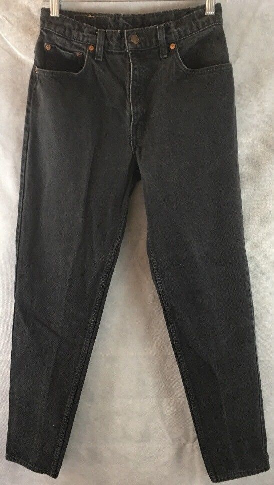ee8c3cad89a LEVI'S 550 Women Black Wash 100% Cotton Relaxed Fit Tapered Leg Jeans Sz 9  Long #Levis #RelaxedFitTaperedLeg