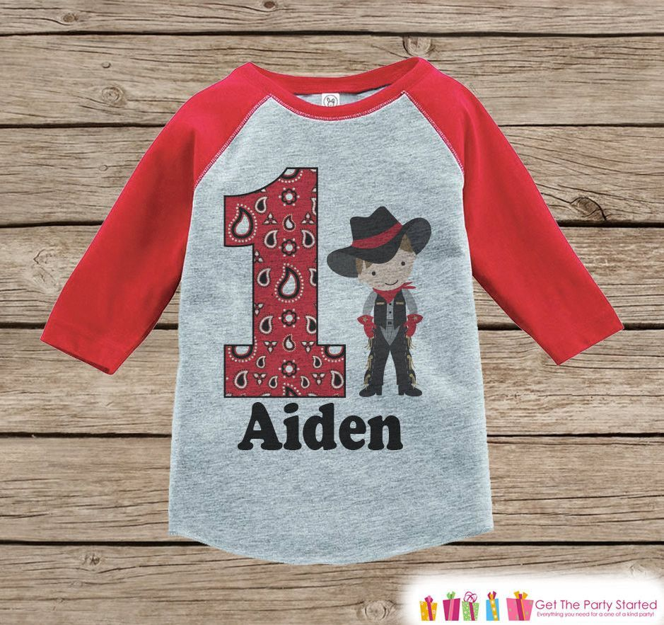 Boy's Birthday Outfit Cowboy Birthday Shirt Onepiece