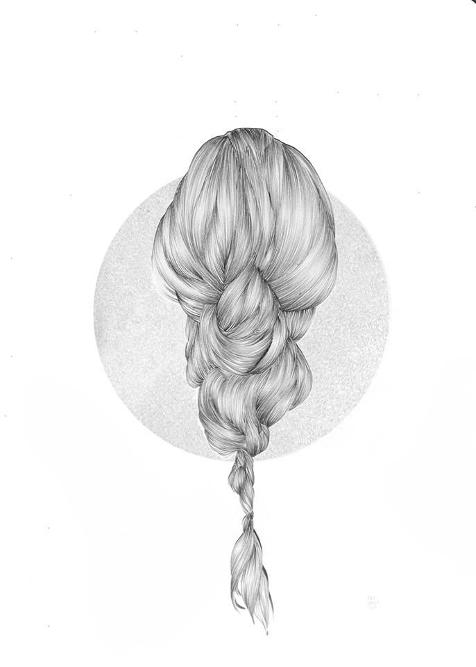 Entrevista A Rakufrecsia Por More With Less Illustration Drawings How To Draw Hair