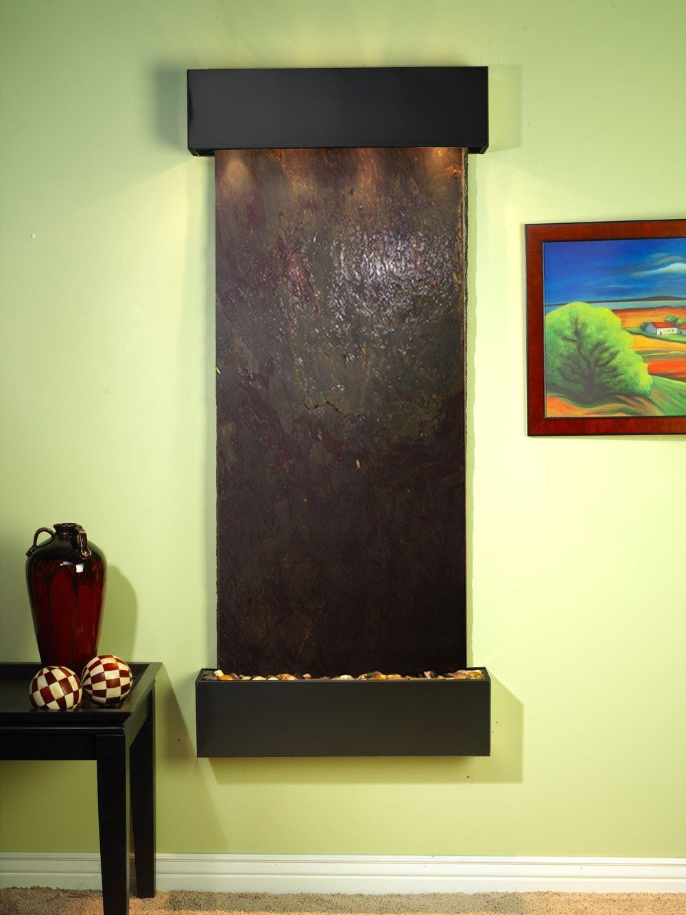 Adagio Inspiration Falls Fountain w/ Rajah Featherstone in Blackened