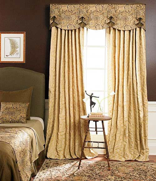 Jabots custom window treatment ideas pinterest for Types of drapes and curtains