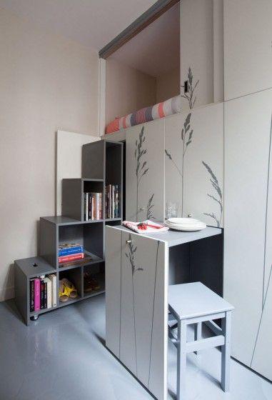 Dise o de departamento muy peque o planos ideas para for Muebles para apartamentos muy pequenos