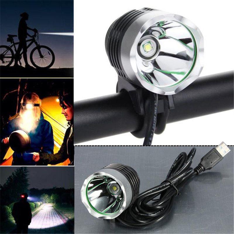 3000 Lumen LED Interfaccia USB Ciclismo Luce Della Bicicletta Del Faro Faro Della Lega di Alluminio 3 Modalità Bike Accessori