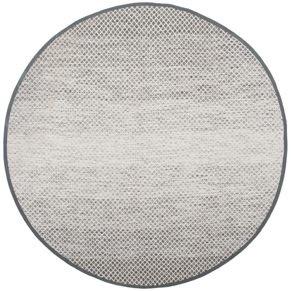 Safavieh Montauk Light Gray Ivory 6 Ft X 6 Ft Round Area Rug