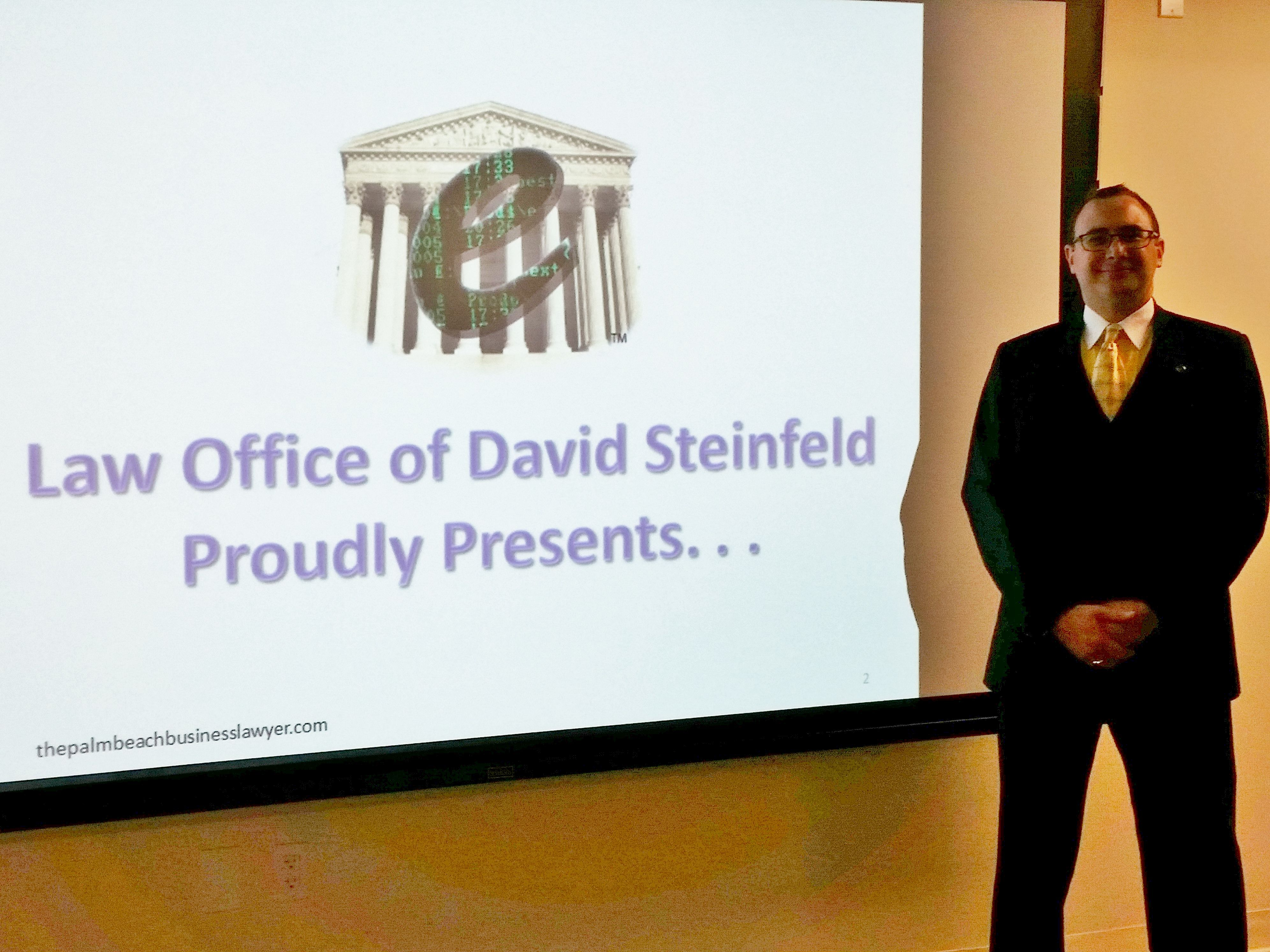 """david steinfeldï ¿ presented """"ethics in e discovery"""" to about 25"""