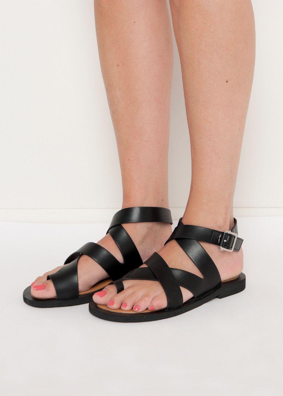 Cross straps, Strap sandals