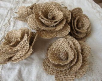 Burlap rosettes so great for crafting. #RusticChicDecorations