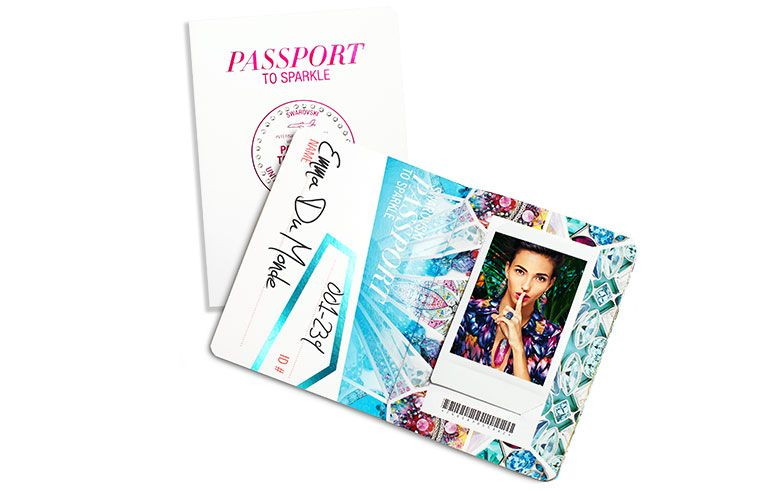 Ro New York Swarovski Passport To Sparkle Passport Sparkle