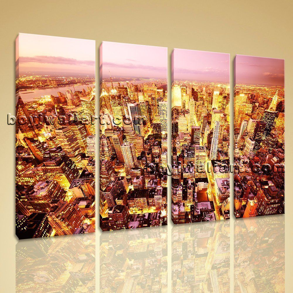 Hp photograph landscape urban city picture wall art print on canvas
