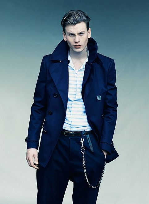 Men, Coat, Pea Coat - SS13-FR202-NAVY, FARRELL, Robbie Williams ...