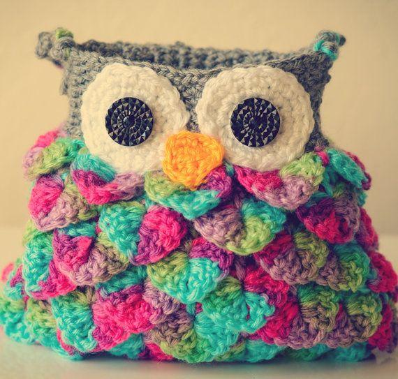 Crochet Owl Bag Purse Sized For Little Girl Bags Pinterest Owl