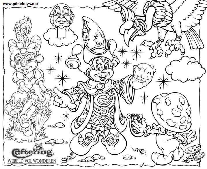 Kleurplaten Efteling Elfjes.Pardoes De Tovernar Kleurplaten Kleuren En Sprookjes