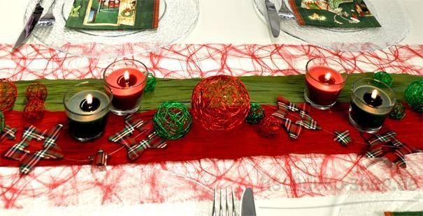 tischdeko grun weihnachtliche tischdekoration in rot und gra 1 4 n bei shopde gelb
