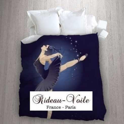 le lac des cygnes pour jeune fille housse de couette tissu imprim ballerine danseuse toile. Black Bedroom Furniture Sets. Home Design Ideas