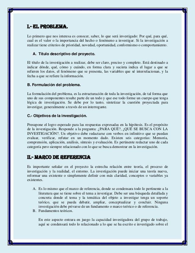 Partes De Un Proyecto Proyectos De Investigacion Metodologia De La Investigacion Metodos Para Estudiar