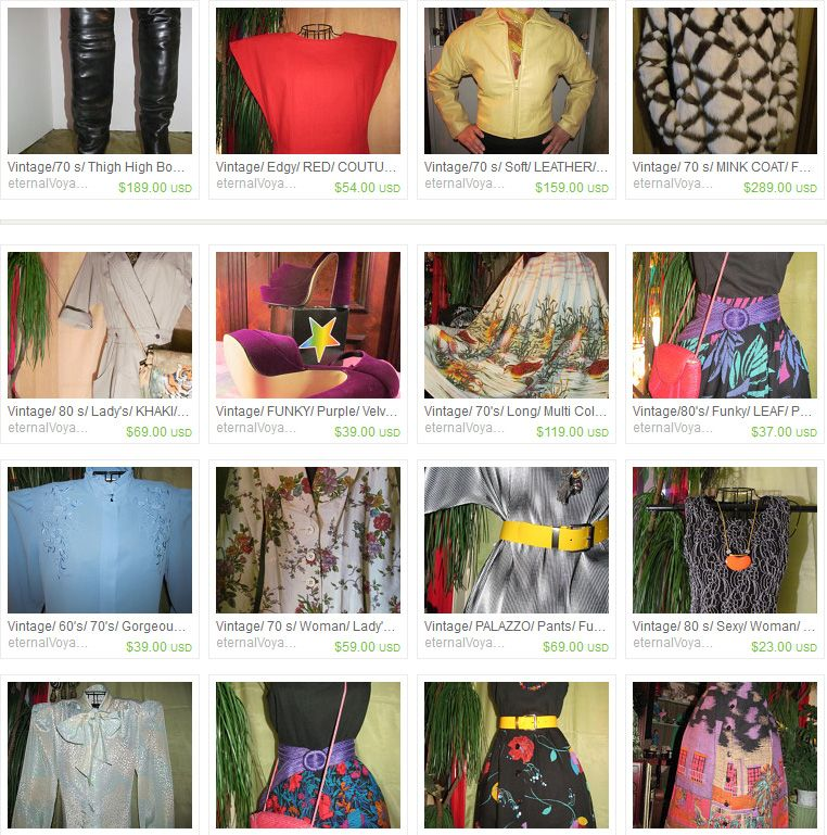 beautiful vintage clothing from eternalvoyagersvault on