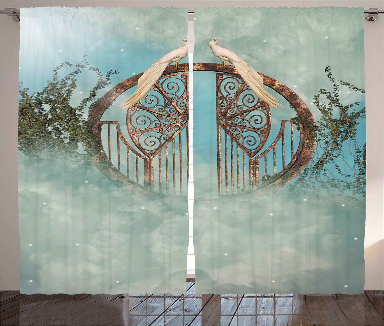 Amazon.com: Ambesonne Fantasy House Decor Collection, Unicorn in ...