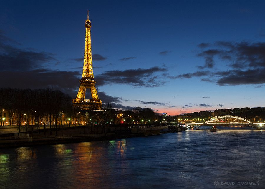 The Eiffel tower at blue hour by David Duchens on 500px