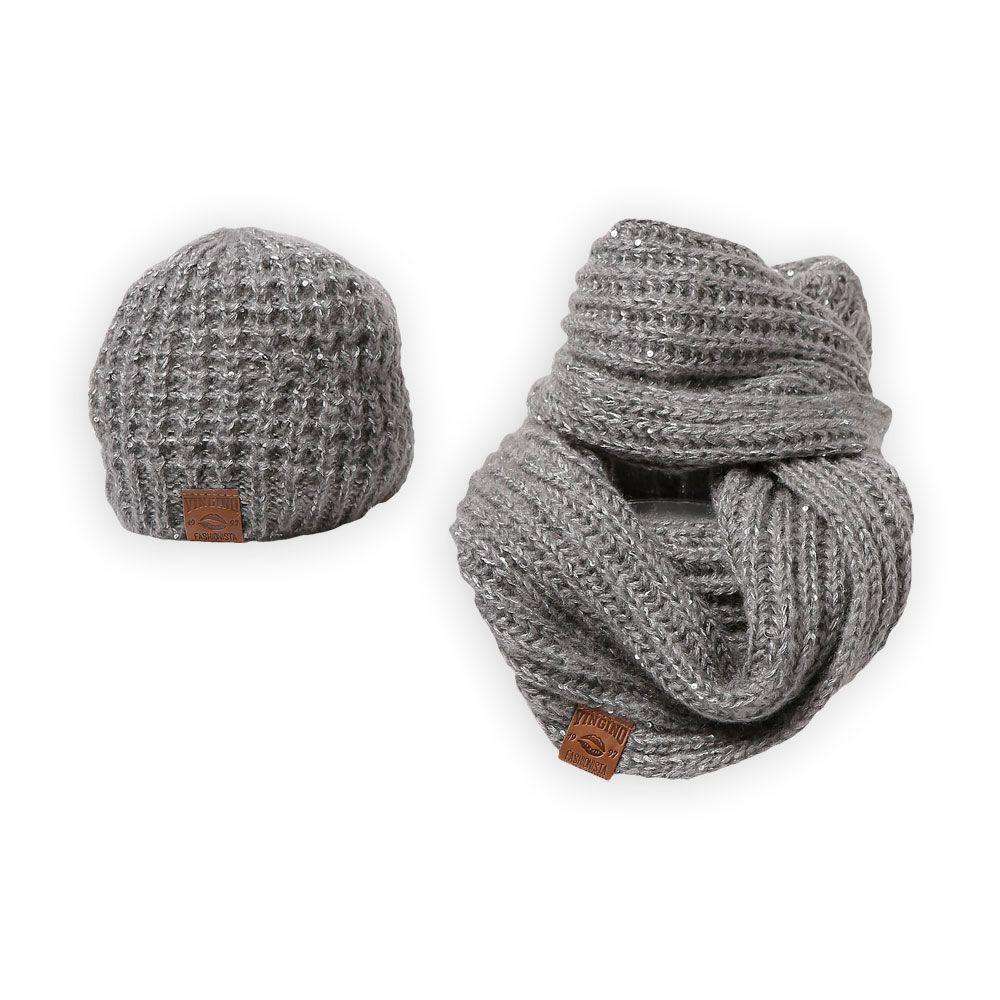 Maak jouw meisjes winterlook af met deze stoere winter muts en sjaal van het kindertopmerk - Set van jongens en meisjes ...