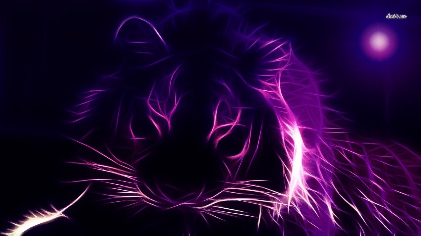 glowing picture of tiger Glowing tiger outline wallpaper