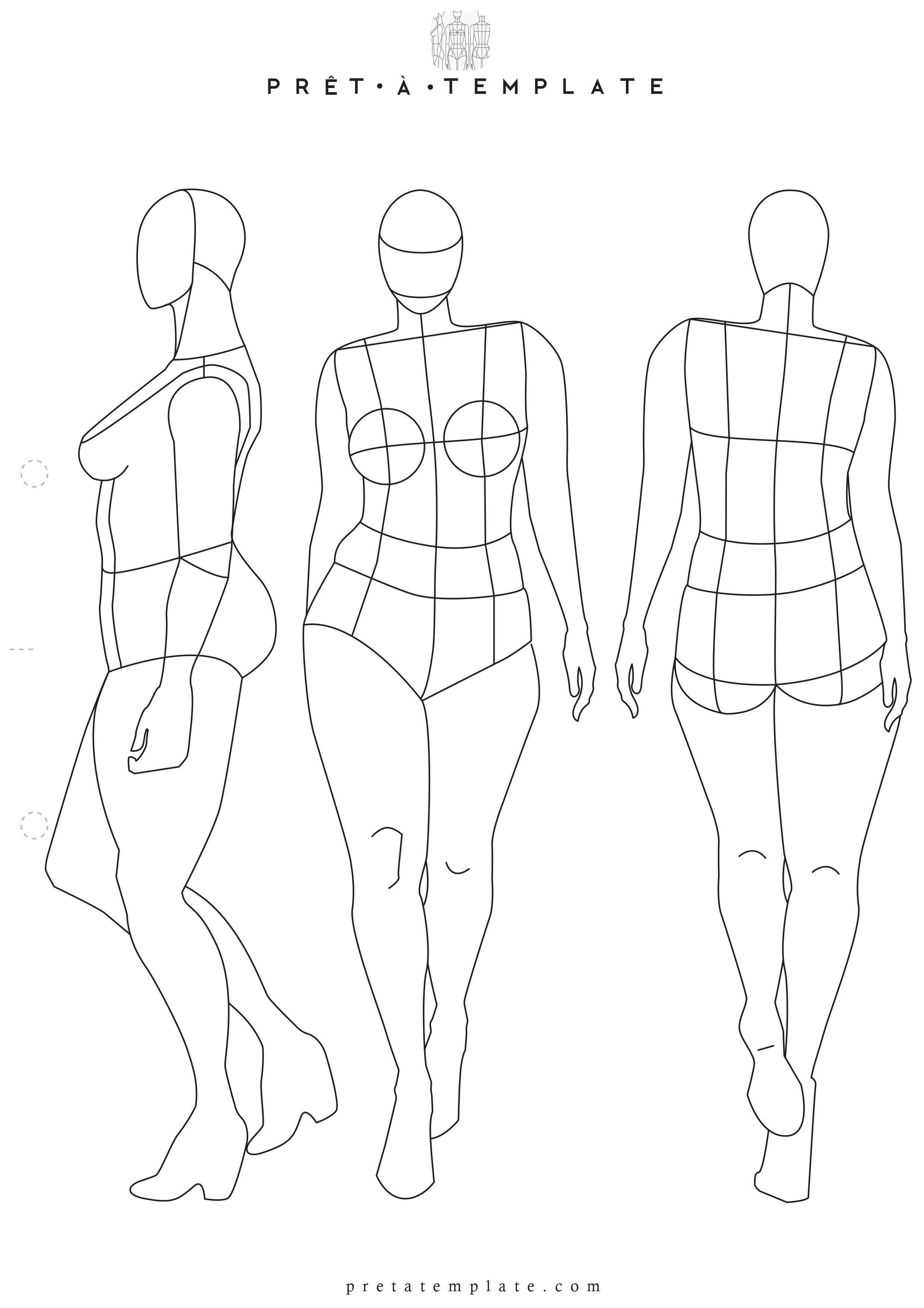 Plus Size Woman body figure fashion template (D-I-Y your own Fashion ...