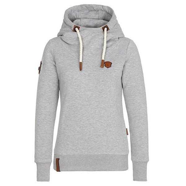 Casual Style Hooded Long Sleeve Pure Color Women's Pullover Hoodie
