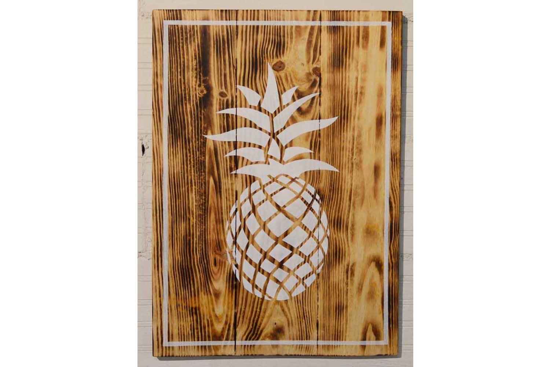 Cuadro madera Wooden Piña | Mukali Home #cuadrodemadera #woodsign ...