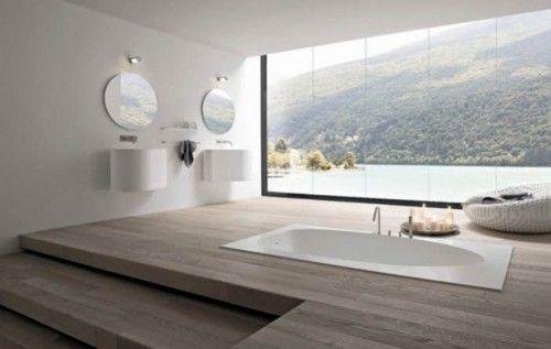 Tub with a view home bathroom modern bathroom