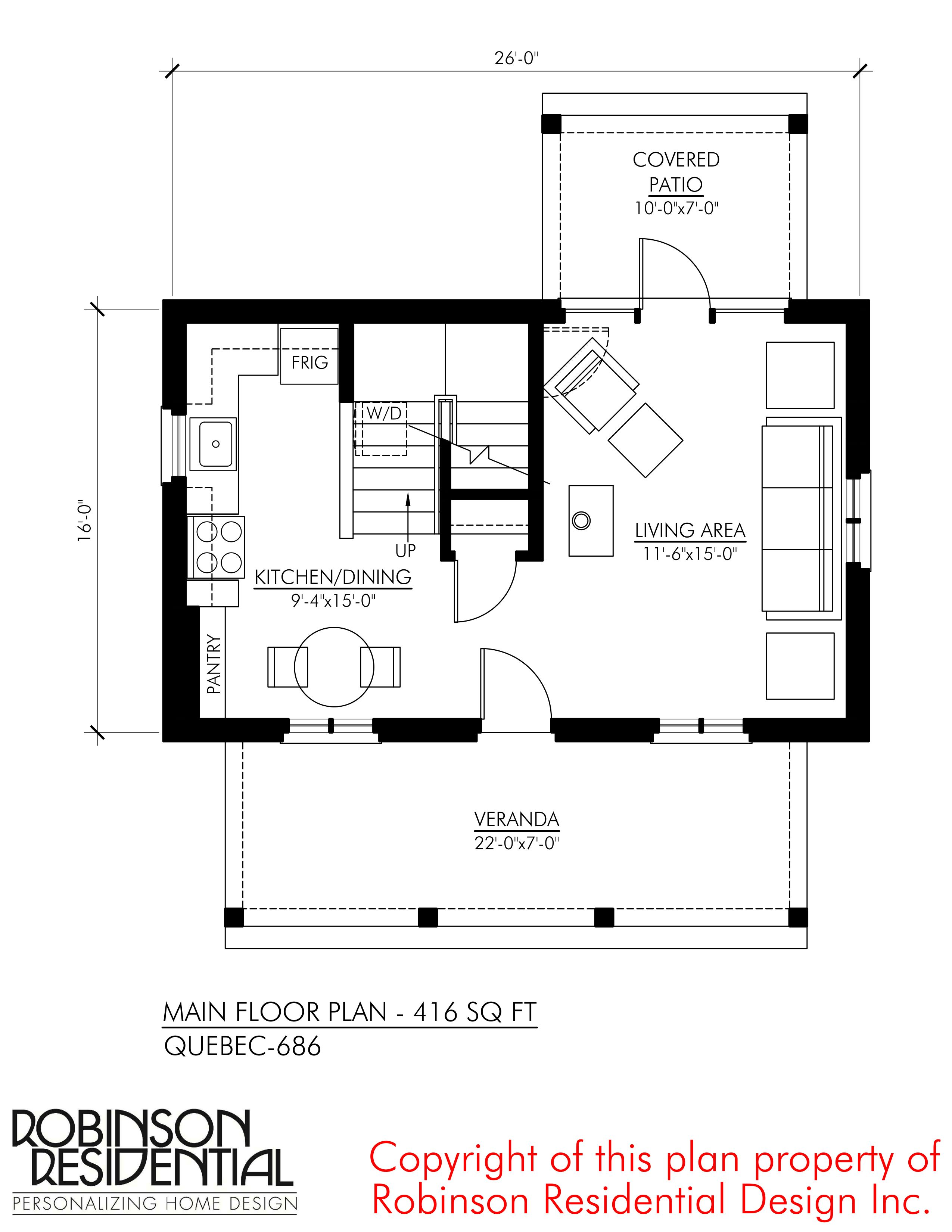 Quebec 686 Robinson Plans Small House Plans Floor Plans House Floor Plans