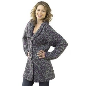 Ladies' Chunky Jacket Knitting Pattern by Caron. Thick knit for ...