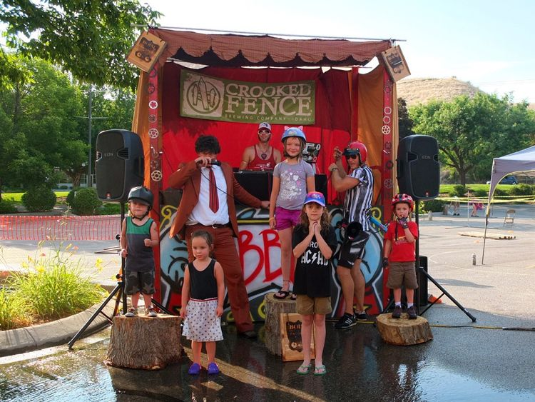 The Kids Race podium at Helladrome 2015, the Pedal 4 The People festival finale!