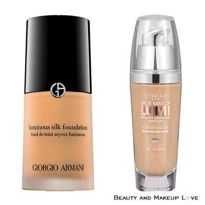 Drugstore Affordable Dupes For High End Makeup Luminous Silk Foundation Foundation Dupes Giorgio Armani Luminous Silk