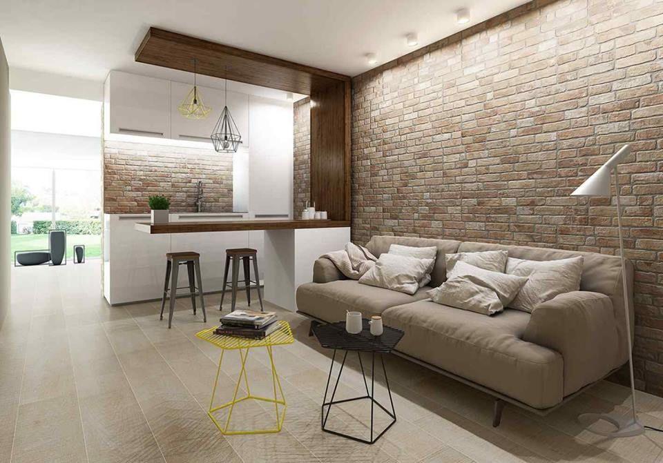 Tegels met de uitstraling van bakstenen! Met deze baksteen tegels - umbau wohnzimmer ideen