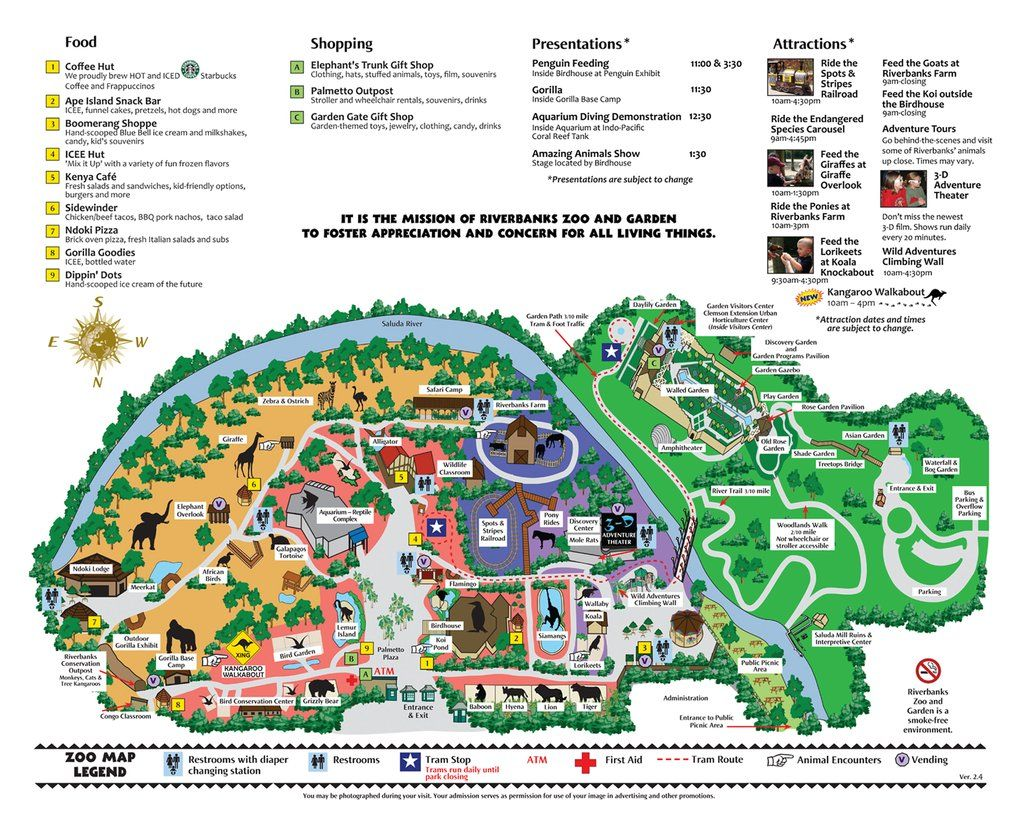 Map of Riverbanks Zoo Columbia SC