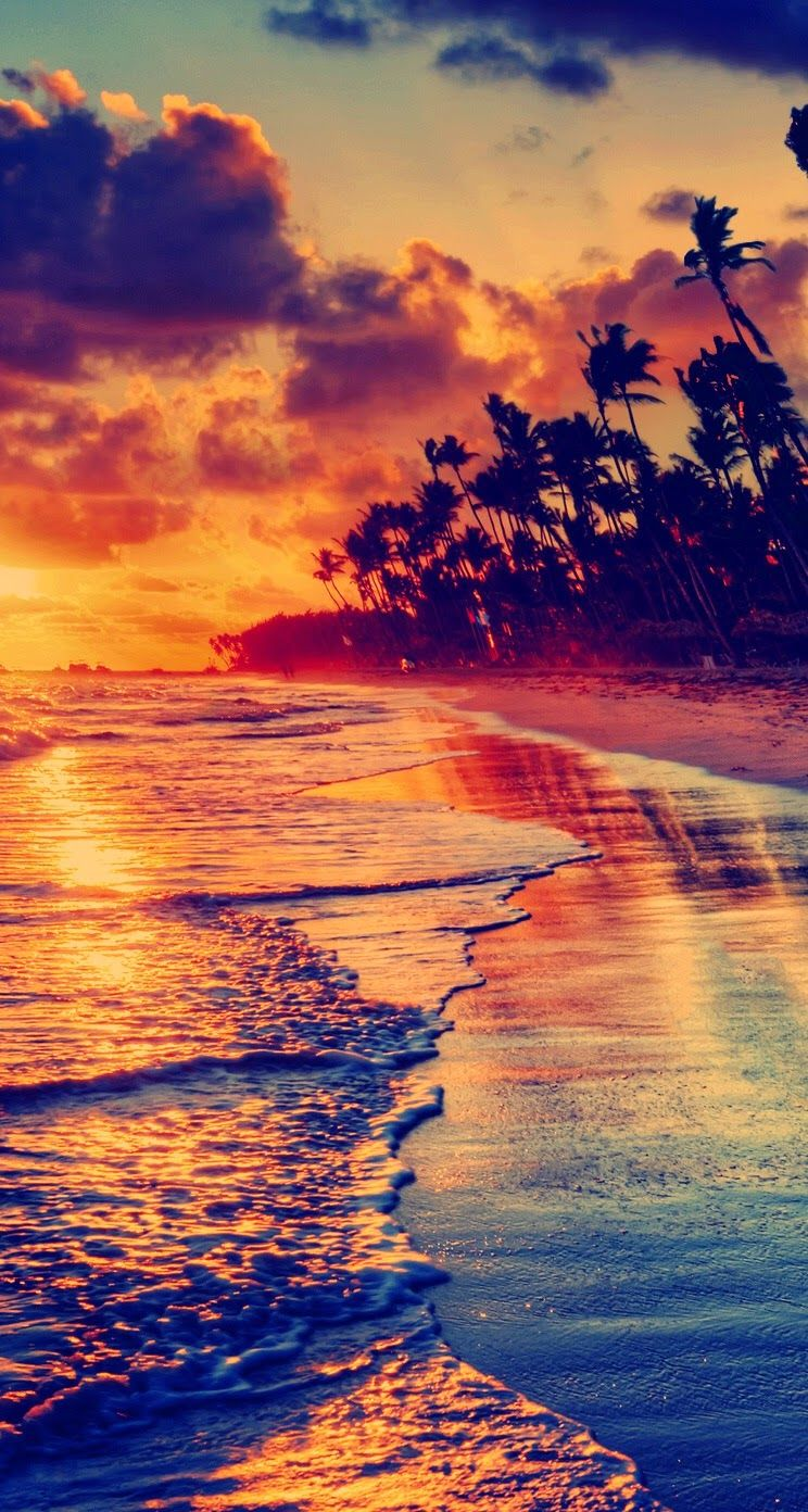 Amazing beach. Awesome iPhone Wallpapers Colorful Nature Scenery View. Check out more wallpapers ...
