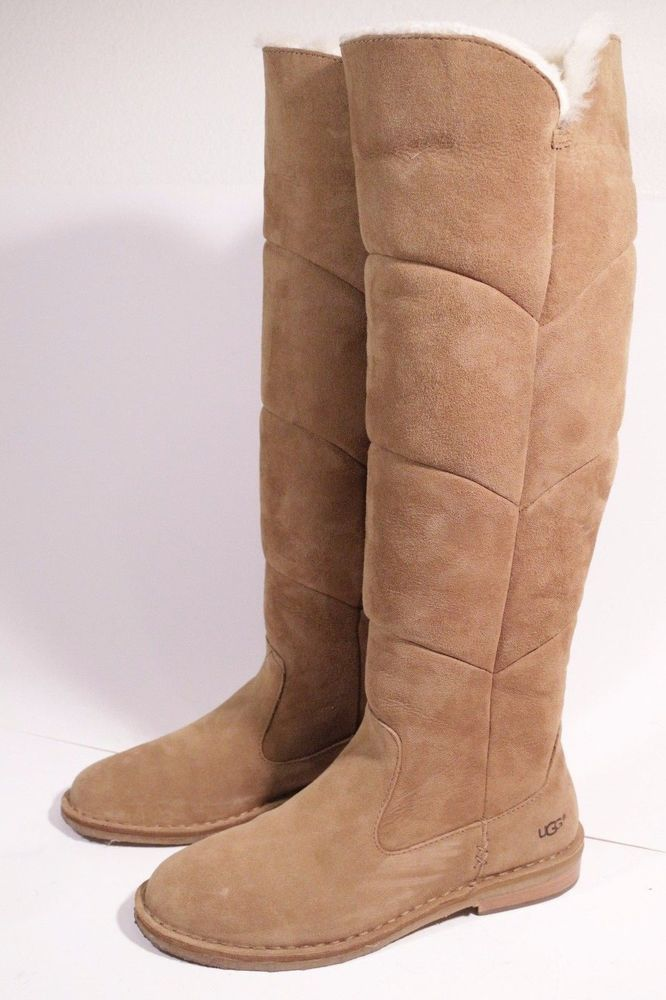 "d7d85860d3a Details about UGG ""LOMA"" OVER THE KNEE BOOTS CHESTNUT BROWN SUEDE ..."