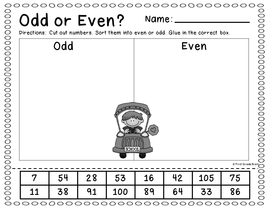 Odd Even Worksheet First Grade   Printable Worksheets and Activities for  Teachers [ 816 x 1056 Pixel ]