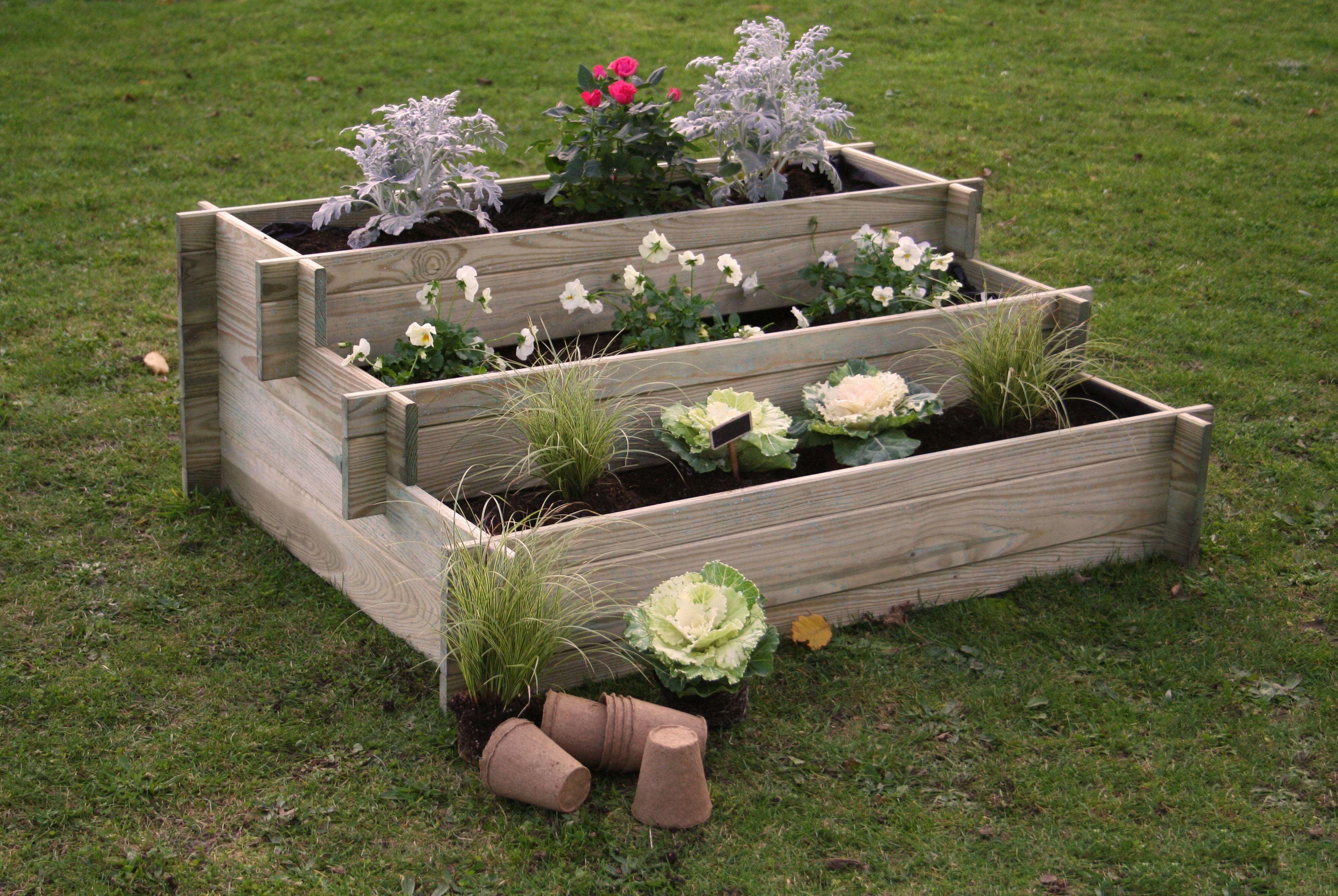 Aki bricolaje jardiner a y decoraci n huerto urbano nikole huerto en escalera con malla - Bricolaje y decoracion ...