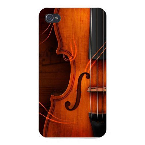 Apple Iphone Custom Case 4 4s Plastic Snap On Violin Stringed
