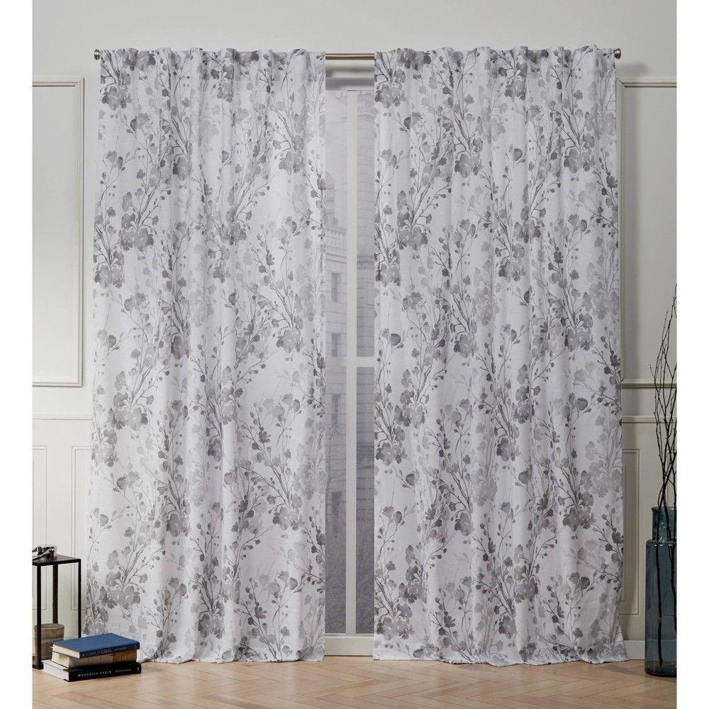 50 X63 Lillian Back Tab Light Filtering Window Curtain Panels