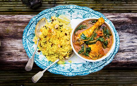 A healthy take on a chicken curry from Hemsley and Hemsley.