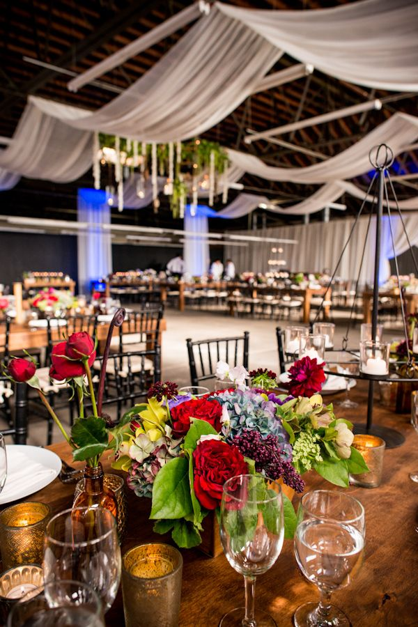 warehouse wedding decor eclectic industrial inspired wedding 8365