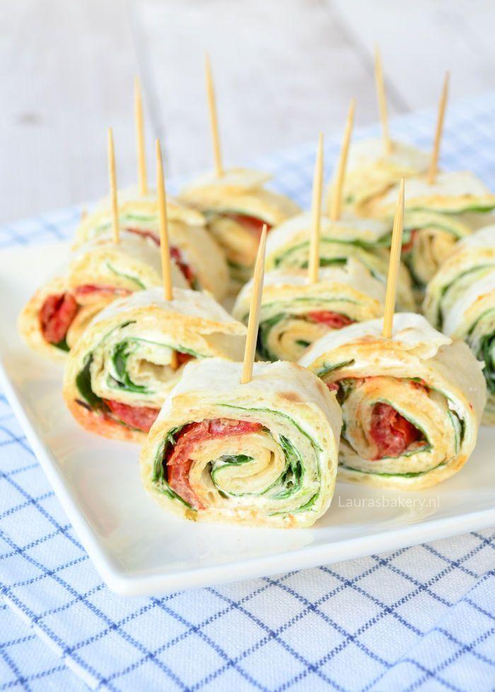 spinazie-roomkaas wraps