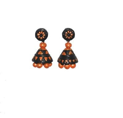 Colourful Jhumka Terracotta Jewellery on Shimply.com