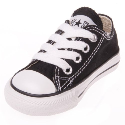 TODDLER CONVERSE CANVAS 7J235 BLACK//WHITE LOW TOP CASUAL SHOE